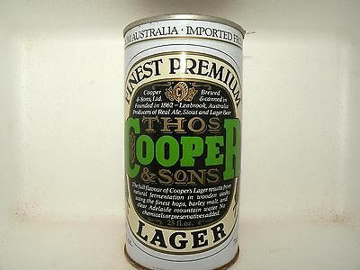 COOPERS FINEST PREMIUM LAGER 740ml STRAIGHT STEEL EMPTY BEER CAN
