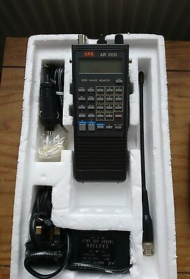 AOR AR1000 Handheld Radio receiver VHF/UHF Communications Scanner Boxed