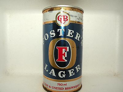 FOSTERS LAGER 750ml STRAIGHT STEEL EMPTY BEER CAN