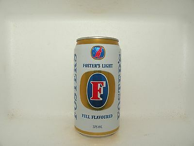 Fosters Light Empty Beer Can Silver Top