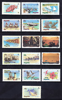ANGUILLA 1982 Illustrated set of 16 - unmounted mint. Catalogue £55