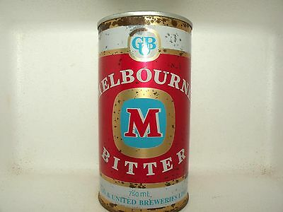 MELBOURNE BITTER 750ml STRAIGHT STEEL EMPTY BEER CAN