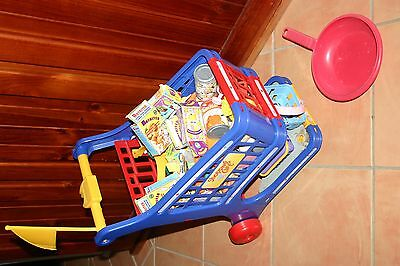 Kids Shopping Trolley with Play Food & Play Money - PICKUP TUGGERAH