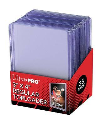 "NEW! Ultra Pro Toploader 3"" X 4"" Clear Regular 25 x Toploaders / Pack NEW IN BOX"