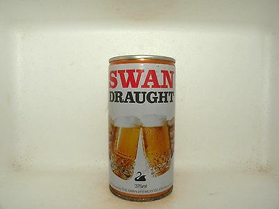 SWAN DRAUGHT 375ml CRIMPED STEEL EMPTY BEER CAN