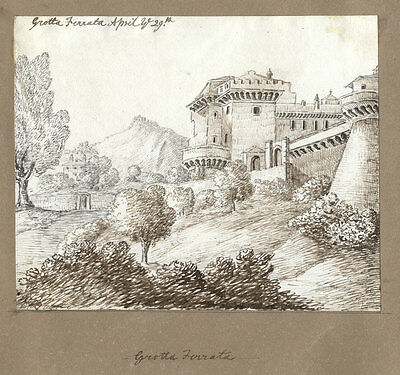 Lady Charlotte Lindsay - Sketchbook Album- Views in Italy and Germany, 1822-3
