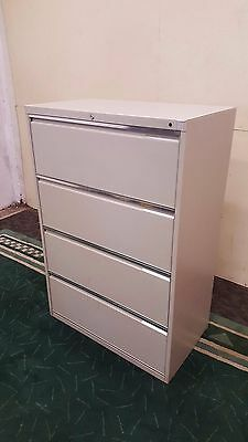 Commercial Four Drawer Lateral Filing Cabinet Office File Storage Anti Tilt