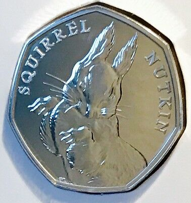 2016 50P Coin Squirrel Nutkin Rare Fifty Pence Uncirculated