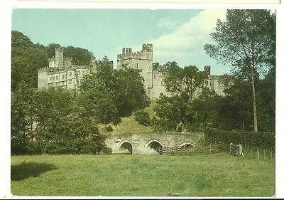 Haddon Hall - a larger format, photographic postcard of the approach from Bridge