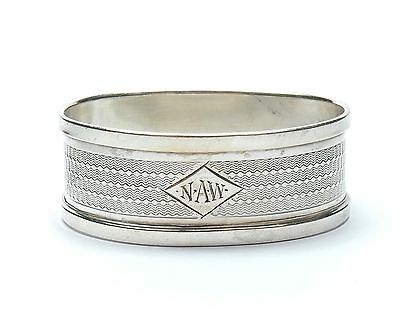 Antique Birmingham 1937 925 Sterling Silver HG&S Oval Napkin Ring 11.9g