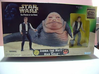 Star Wars  Jabba The Hutt Han Solo The Power Of The Force  Kenner