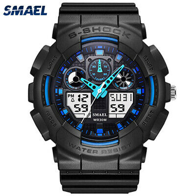 SMAEL Sport Dual Digital Watch Men Led Display Analog Electronic Wrist Watches