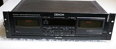 Denon Dn-770R Double Cassette Stereo Dolby Tape Deck Recorder / Player
