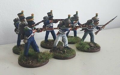 28mm 1815 french Voltigeurs x6 perry miniatures painted