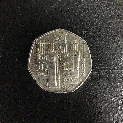 Suffragette Give Women the Vote 50p Coin 2003
