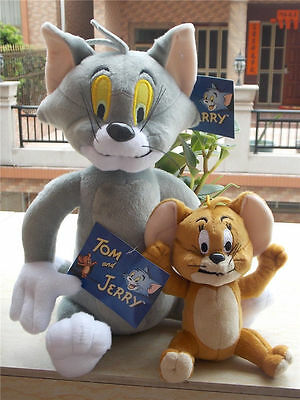 Tom and Jerry Plush Doll Stuffed Animal Cartoon Toy Anime Cat & Mouse Figure