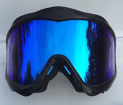 NEW JT Spectra Black Frame Blue Thermal Proflex Proshield Paintball Mask Goggle