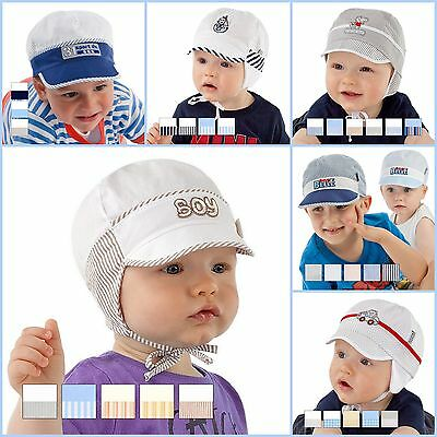 New! Beautiful Baby Boy Hat / Cap Perfect For Summer 100% Cotton 0mth - 36mths+