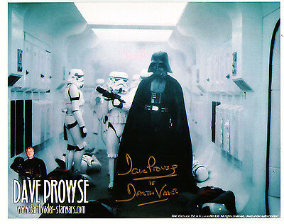 Dave Prowse. Darth Vader Star Wars Hand Signed Autograph 8 x 10 Photo