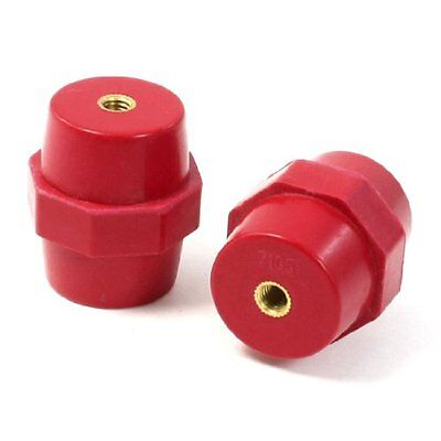 6 mm filettato Red Bus Bar isolante isolante 38 mm Altezza 2 PCS (M6q)