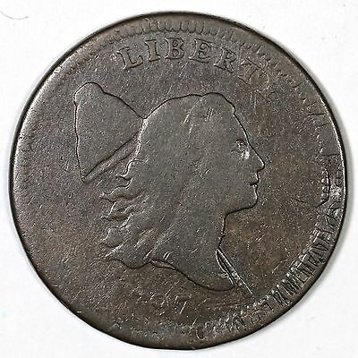 1797 C-2 R-3 Struck over TAL Liberty Cap Half Cent Coin 1/2c