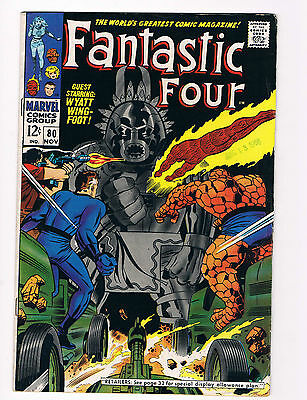 Fantastic Four #80 Vf/vf+ 1968 Stan Lee Jack Kirby Silver Age Great Condition!