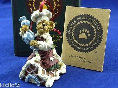 Boyd's Bears Bearstones Collection Simon Icing Touches Ornament #25746
