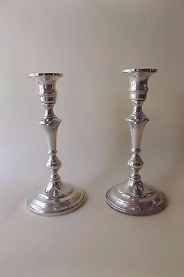 "Pair of 8.5"" Vintage Sterling Silver Candlesticks by Mueck & Carey..Mid Century"