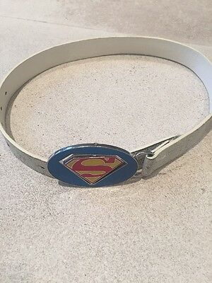 Superman River Island Belt Distressed White Leather 3-6 Years