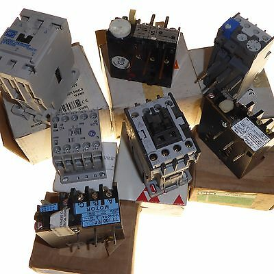 Joblot of 7 New contactors and adjustable overload relays MEM Cutler-Hammer