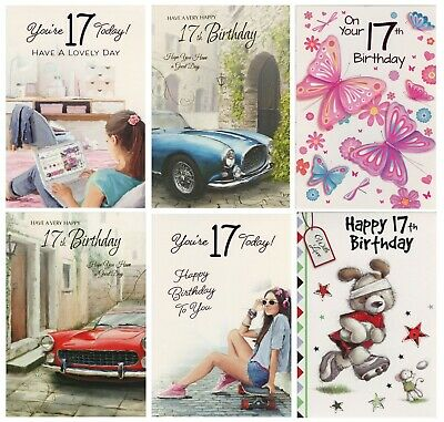 Boy Girl Youre 17 Today 17Th Birthday Card 1Stpp