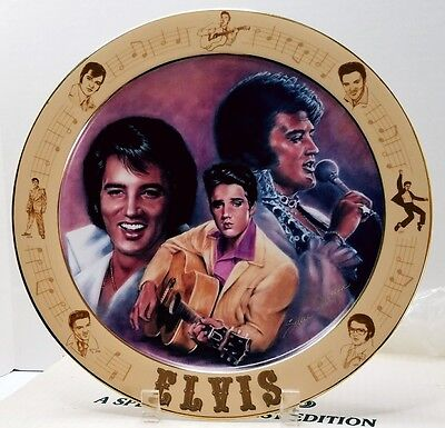 "Elvis Remebered Elvis Presley A Special Request 12 1/4"" Stunning Plate Retired"