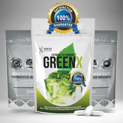 GREEN TEA Extract Capsules 60 x 1000mg Fat Burner Weight Loss Slimming Tablets