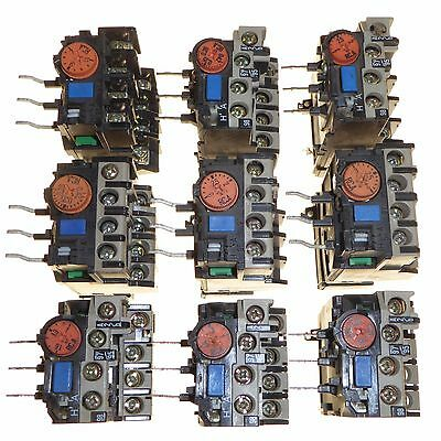Joblot of 12 adjustable thermal overload relays for Mitsubishi contactors