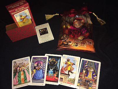 Baroque Bohemian Cats Tarot Mini Edition With Pouch. Cards Have Gilded Edges OOP