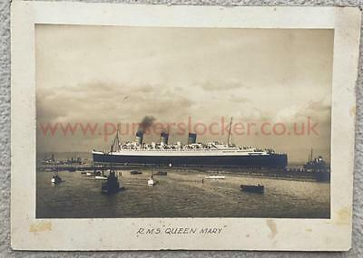 Cunard White Star Rms Queen Mary Rare Unpublished Pre Maiden First Voyage Photo