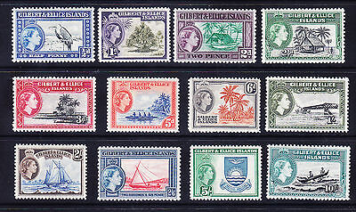 GILBERT & ELLICE ISLANDS QEII SG64/75 set of 12 - unmounted mint. Cat £70
