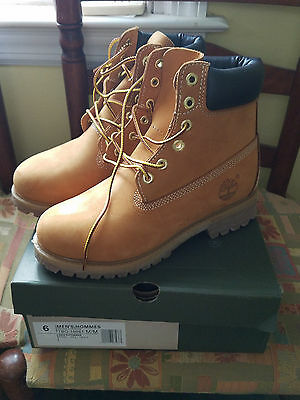 Timberland Wheat Nubuck Waterproof Boots Men's Size 6 **New In Box**