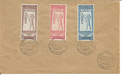 Egypt 1925 International Geographical Congress on FDC First Day Cover VF