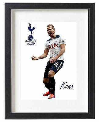 Harry Kane Tottenham A4 Poster Premier League Spurs London White Hart Lane