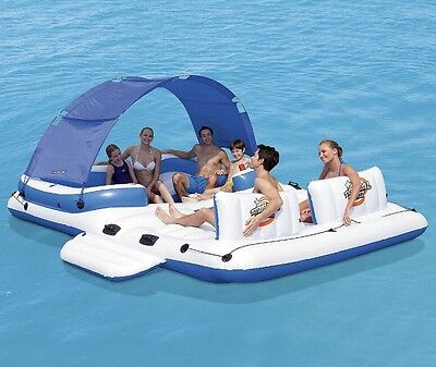 Inflatable Floating Island Raft Lounger Beach Pool BNIB