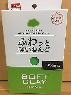 DAISO Soft Lightweight Clay Green Arcilla Suave Made in JAPAN New