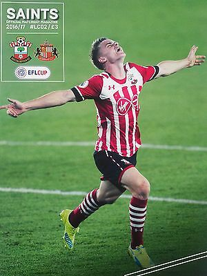 Southampton v Sunderland EFL Cup 4th Round 26/10/2016 Mint condition