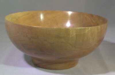 Turned Red Bay Wood Bowl Beautiful Colors Handmade, Ooak New
