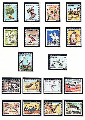 BOTSWANA 1982 SG515/32 Birds set of 18 - superb unmounted mint. Catalogue £55