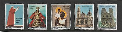 Vatican City - 1970 - Pope Paul`s Visit To Asia & Oceania - Set (5V) - Mnh