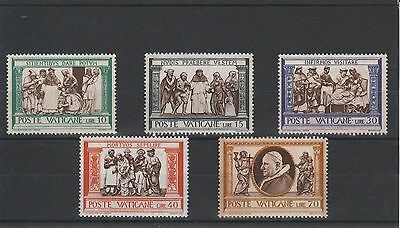 Vatican City - 1960 - Corporal Works Of Mercy - 5 X Stamps - Mnh