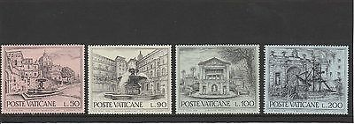 Vatican City - 1975 - European Architectural Heritage Year - 4 X Mnh Stamps