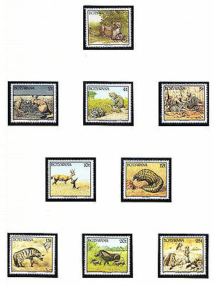 BOTSWANA 1992 SG738/55 Animals set of 18 - superb unmounted mint. Catalogue £45