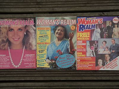 Vintage WOMAN'S REALM Magazines 1980's ( 3 Issues) Royal Family